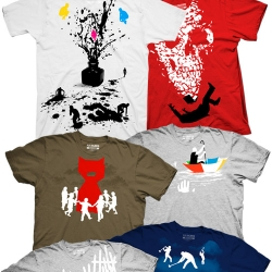 Artist Rob Dobi has released Series 8 of Fullbleed.org- eight new conceptual teeshirts ripe for the wearing!