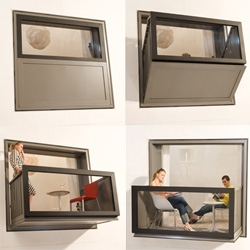 Bloomframe ~ brilliant product to have a convertible window/balcony ~ a brilliant condo living space saver/maker.