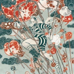 "3 brand new works by Yuko Shimizu on display for the ""Blow Up"" exhibit in New York"