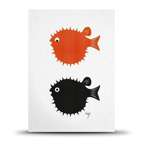 Studio Arhoj Blowfish Print Card
