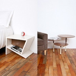 +OO - Blu Dot exclusive line for Urban Outfitters - cute side tables! Also chair, couch, etc...