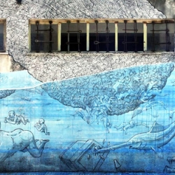 Blu recently stopped by the beautiful island of Sicily where he spent a few days working on this new mural in Messina.