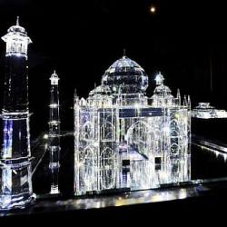 Crystalline interpretations of world famous architectural works by Russian artistic duo Blue Noses.