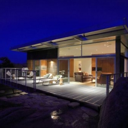 Bluesky Home by o2 Architecture is a prototype prefab home in Yucca Valley, CA.