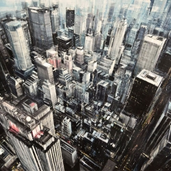 Oil Paintings of Blurred Cityscapes by Valerio D'Ospina.