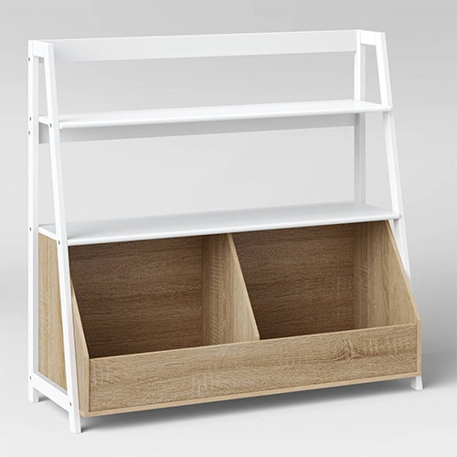 Target Pillowfort Bly Wide Bookshelf - just built this for the NOTtoddler and it's even better in person. Perfect basic toy storage/bookshelf for this phase.