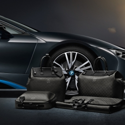 Louis Vuitton partners with BMW to create exclusive travel bags for the electric hybrid i8.