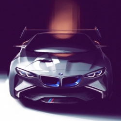 BMW Group Design developed this breathtaking concept car with all the motorsports pedigree of BMW. And it'll be only a virtual concept, because it's gonna show up in Gran Turismo.