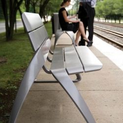 Very attractive street furniture design from BMW designworks for LandscapeForms.
