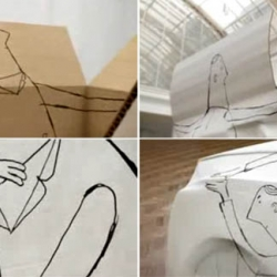 amazing audi q5 advertisement, animated man turning a box into a q5