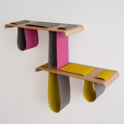 creative shelf system by tuyo design studio! the possible combinations are endless...