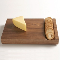 Phase Design Cheese Board ~ perfect for cheese and cracker addicts! Lovely solid walnut wood.