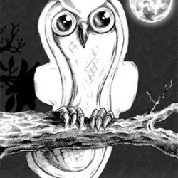 Found via the b3ta.com best of the board, It's a Sanitary Owl by the talented Phillip Blackman creator of biro-art.com. Terrible pun well executed.