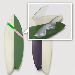 Asymmetric Surfboards by Saturdays Surf NYC and Rick Malwitz available over at Awesomeville