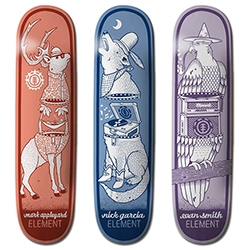 Element x Jeremy Fish Summer Collection - a great collection of zipper creature skate decks and an incredible animated video!