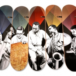 Miles Davis - themed skateboards by Western Edition.