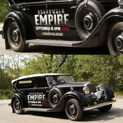 Boardwalk Empire launches its new season by turning NYC taxis into 1920's vehicles!