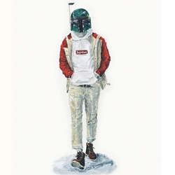 Smart, funny Star Wars fashion illustration by John Woo.