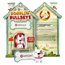 Target Bobblin' Bullseye Bobble Bot Gift Card - this HexBug powered gift card toy will wander and wobble!