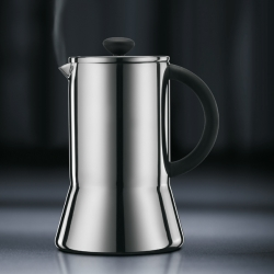 The Bodum Presso series contains a sleek double wall coffee press and some great coffee glasses.
