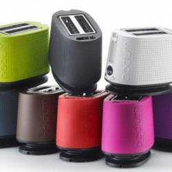 Bodum new collection BISTRO Toaster in all shades of rainbow colors.
