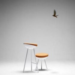 BOET is a new stool by the Swedish studio Note Design Studio.