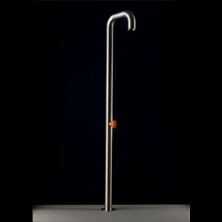 Boffi Pipe shower - so simple - strangely crude yet elegant all at once.