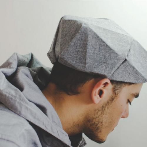 FoldinJat, Origami  inspired hats by Venezuelan Designer