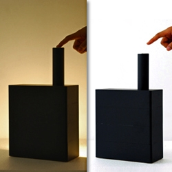 'Bollard and the black box' lamps by Studio Juju. Simple yet intriguing.