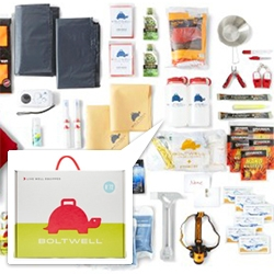 Boltwell - Emergency Kits for any situation, the biggest differentiator? Their adorable branding and packaging, with their cute Tortoise with a handle logo on just about everything.
