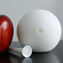 Awmoo handmade smoking device made of bone china ~ matte gloss finish.