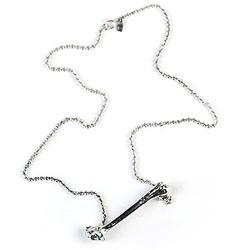 Bone necklace by Ron Dotson.  Creepy? I like it.