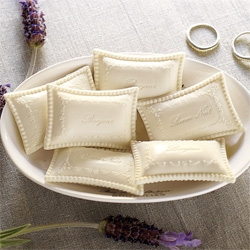 Beautiful little guest soaps with Bonjour and Bon Nuit on them ~ from pottery barn