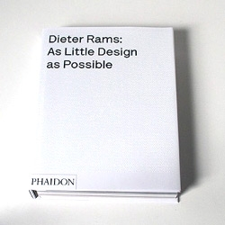 As Little Design As Possible: The Work of Dieter Rams by Sophie Lovell,  is an expansive 240 page book that brings the reader many never-before-seen photos, blueprints, illustrations, and materials from Rams' personal archive.