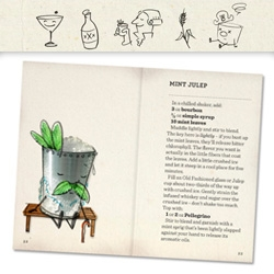 "Dave Stolte's adorable illustrations and love of mixology turned into a Kickstarter ""Home Bar Basics (and not so basics)"" Book! To be printed on waterproof paper!"