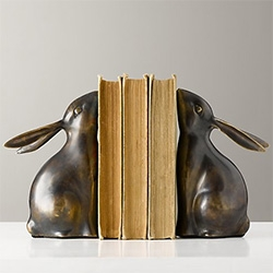 Metal Bunny Bookends from Restoration Hardware Baby and Child