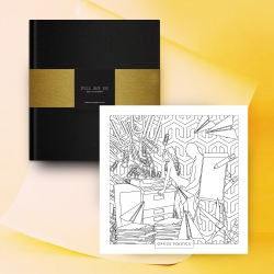 Fill Me In – a London-based design company, has a new adult coloring book, inspired by sexual positions taken from the famous erotic text, The Kama Sutra.