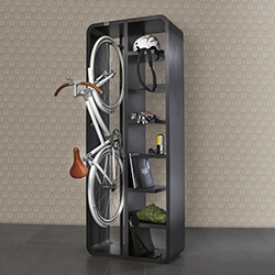 Book Bike is a hybrid bike rack and a bookshelf. Perfect for those with no space to spare but have to keep their bike indoors.