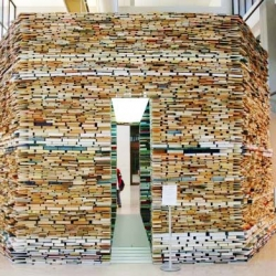 Book Cell is an octagonal Building Made Entirely From Books!