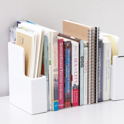 Smart dispatch/paper case and tape dispenser bookends from creative Japanese Ideaco.