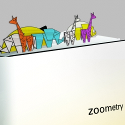 A great idea for making reading adventurous with the use of Zoometry bookmark collection that doubles as an African safari landscape. The bookmarks are recycled from scraps of wood.