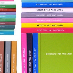 """_______ I Met And Liked"" notebooks available through Archie Grand are modern and minimalist, yet colorful and clever."