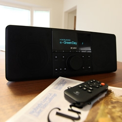 2009 NOTCOT Survey Giveaway - the Logitech Squeezebox Boom! I love mine so much, i'm giving one away ~ check out some close ups of how awesome it is! (Networked wifi music player...)