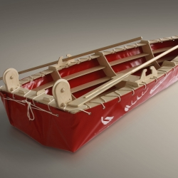 Bart Bekker designed a D.I.Y.-kit for a rowing boat. Presented at the exposition'This way'  Salone di mobile, Milan.