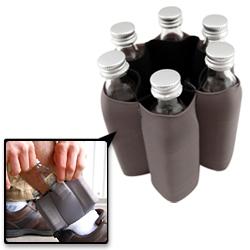Spandex mini liquor bottle ankle concealer. A respectable way to conceal your liquor.