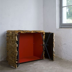Boris Dennler's Wooden Heap is a surprising piece of furniture that invites the public to look beyond appearances.