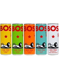 Cute packaging for South African iced Rooibos tea, Bos.
