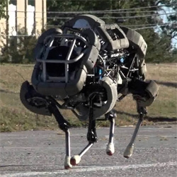 Boston Dynamics has unveiled WildCat, their newest all terrain robot capable of reaching 16mph on different terrains.