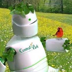 The Plant O Bot was created by Bharoto Yekti as a mascot competition for Central Park in Jakarta, Indonesia.