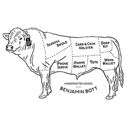 Benjamin Bott - love this graphic depicting which parts of the cow becomes which accessory...